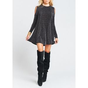 Show Me Your Mumu Teddy Open Cold Shoulder Tunic